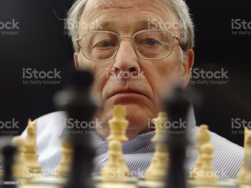 Man playing chess royalty-free stock photo