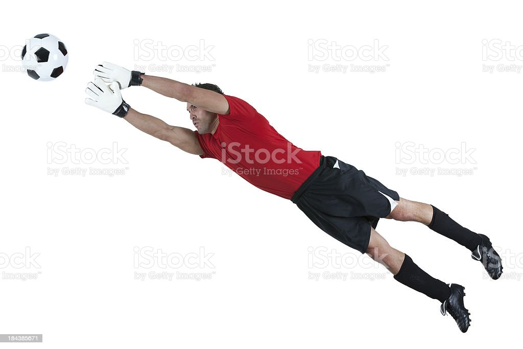 Man playing football royalty-free stock photo