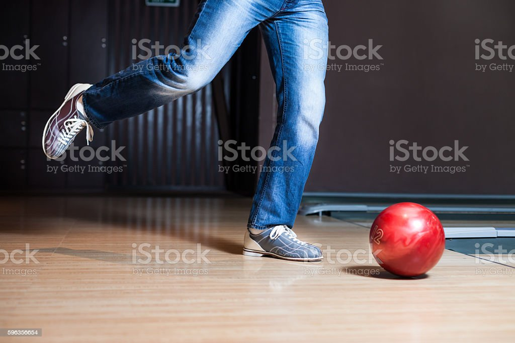 Man playing football stock photo