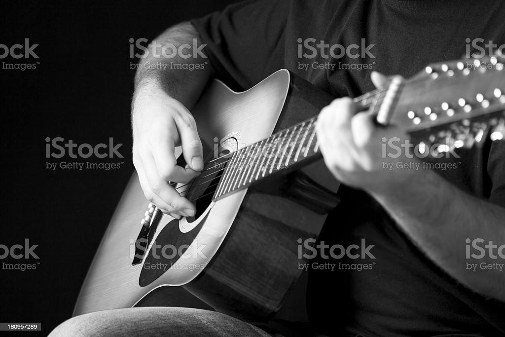 Man playing guitar royalty-free stock photo