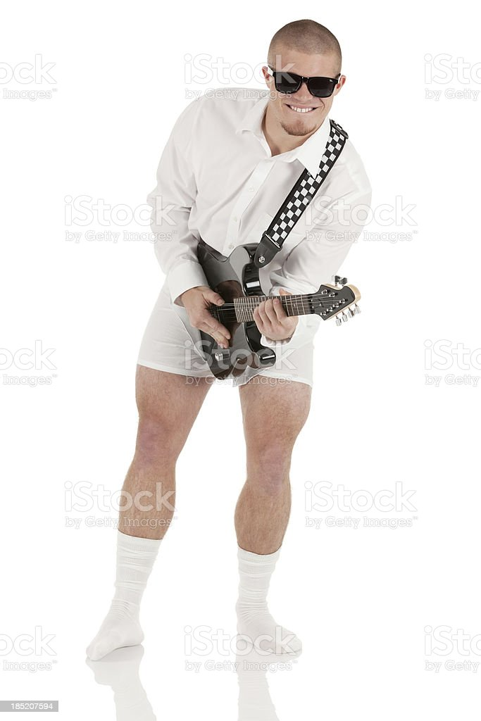 Man playing guitar royalty-free stock photo