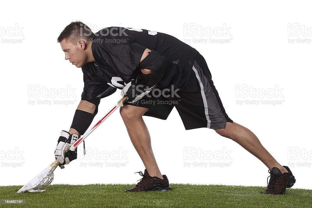 Man playing lacrosse royalty-free stock photo