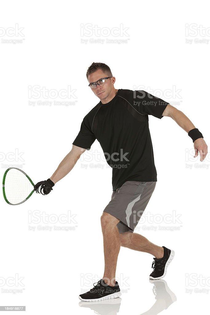 Man playing racquetball royalty-free stock photo