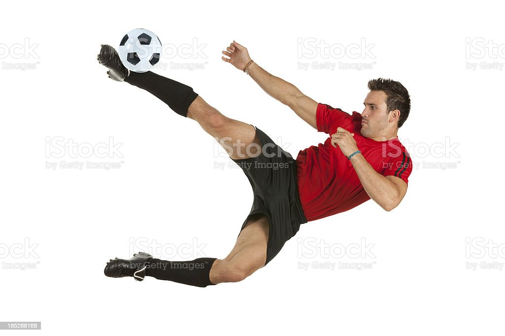 Man playing soccer royalty-free stock photo
