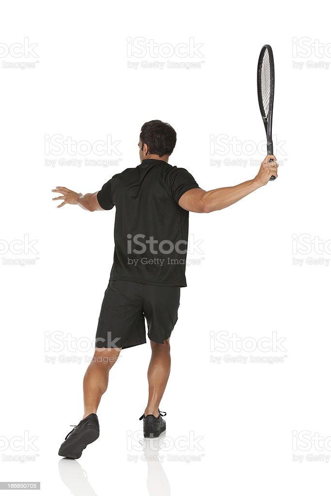 Man playing tennis royalty-free stock photo