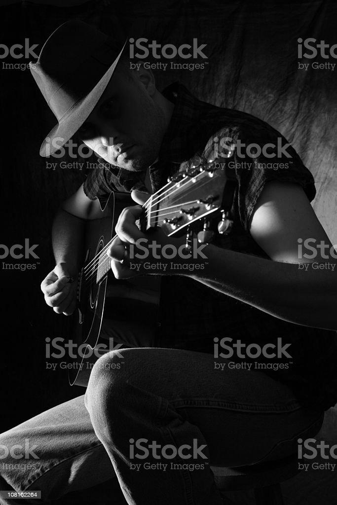 Man Playing the Guitar stock photo