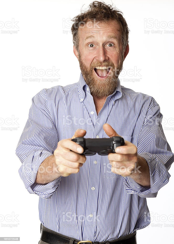 man playing video games royalty-free stock photo