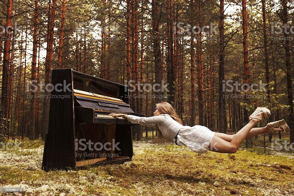 man plays the piano royalty-free stock photo