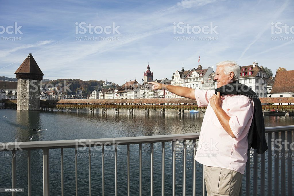 Man pointing. royalty-free stock photo