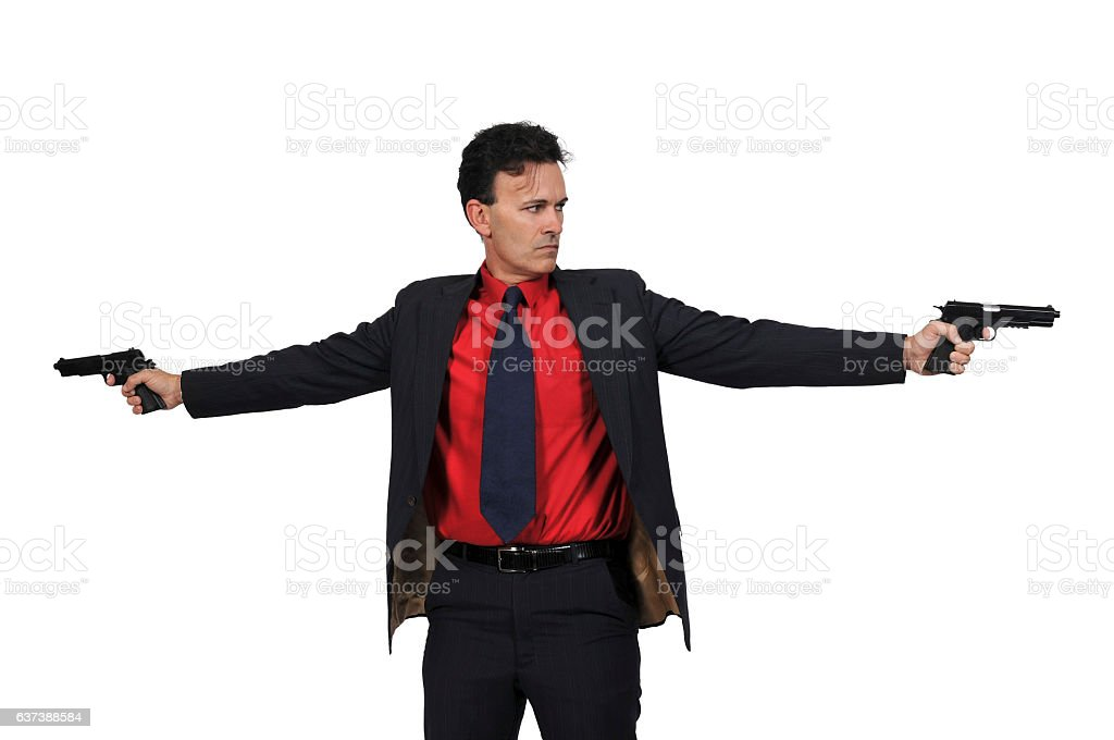 Man Police Detective stock photo