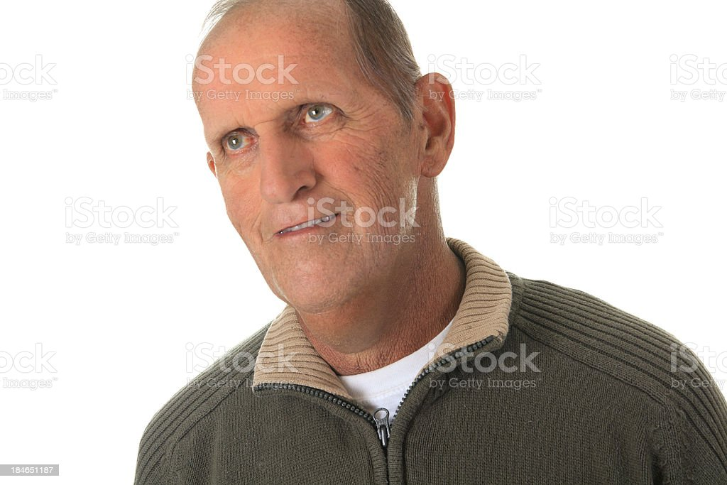 Man Portrait Around 60 years old - Thinking Future royalty-free stock photo