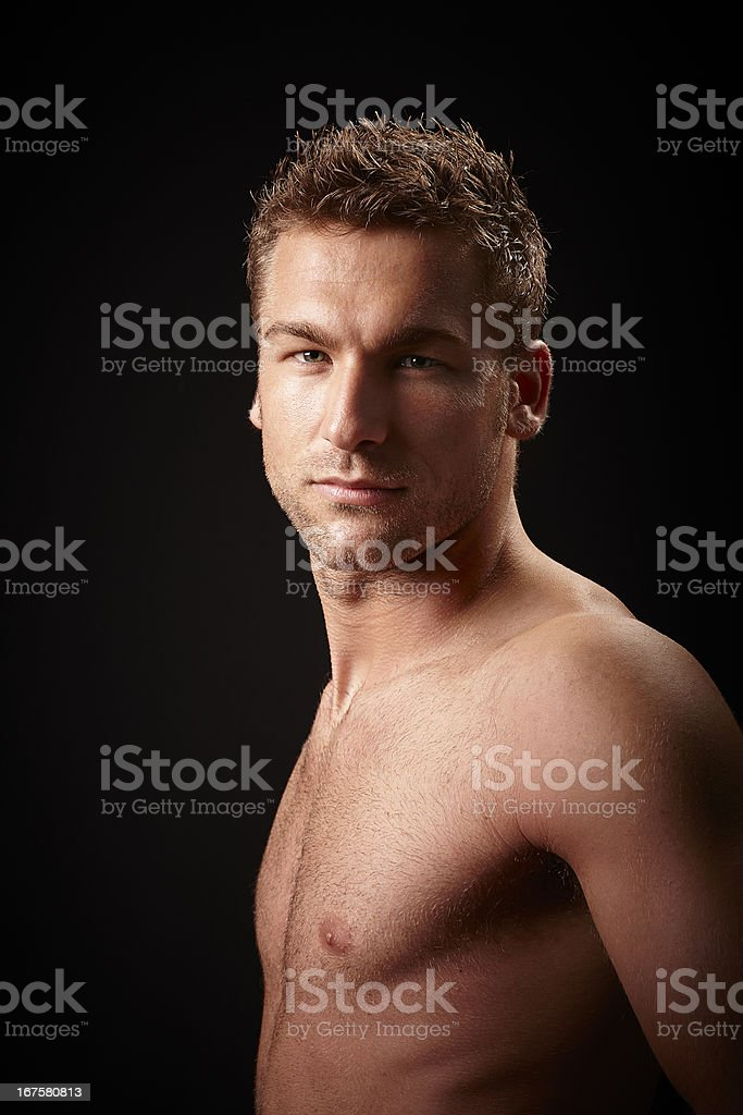 Man Portrait. Color Image royalty-free stock photo