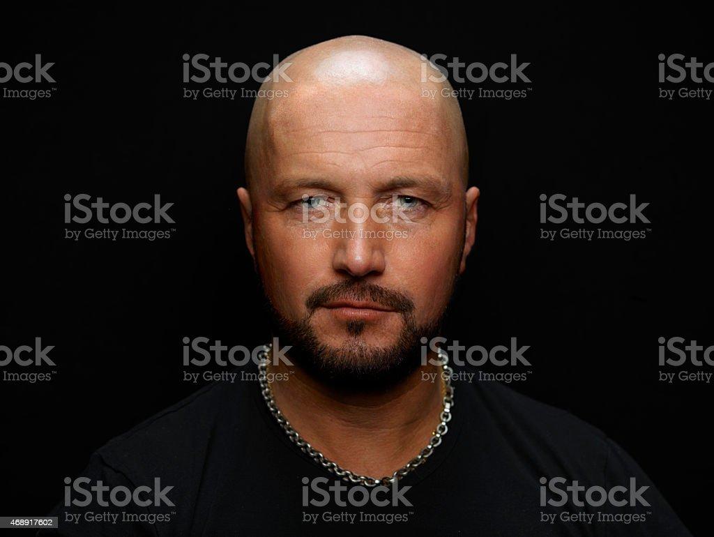 Man portrait. Color Image stock photo