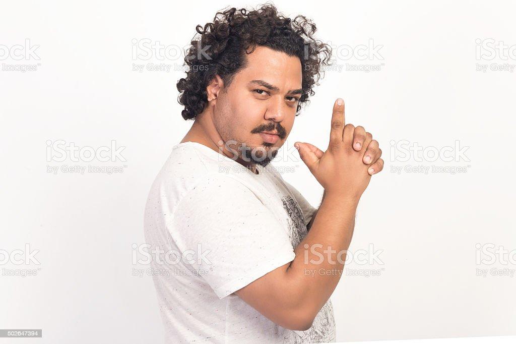 Man portrait isolated on white stock photo