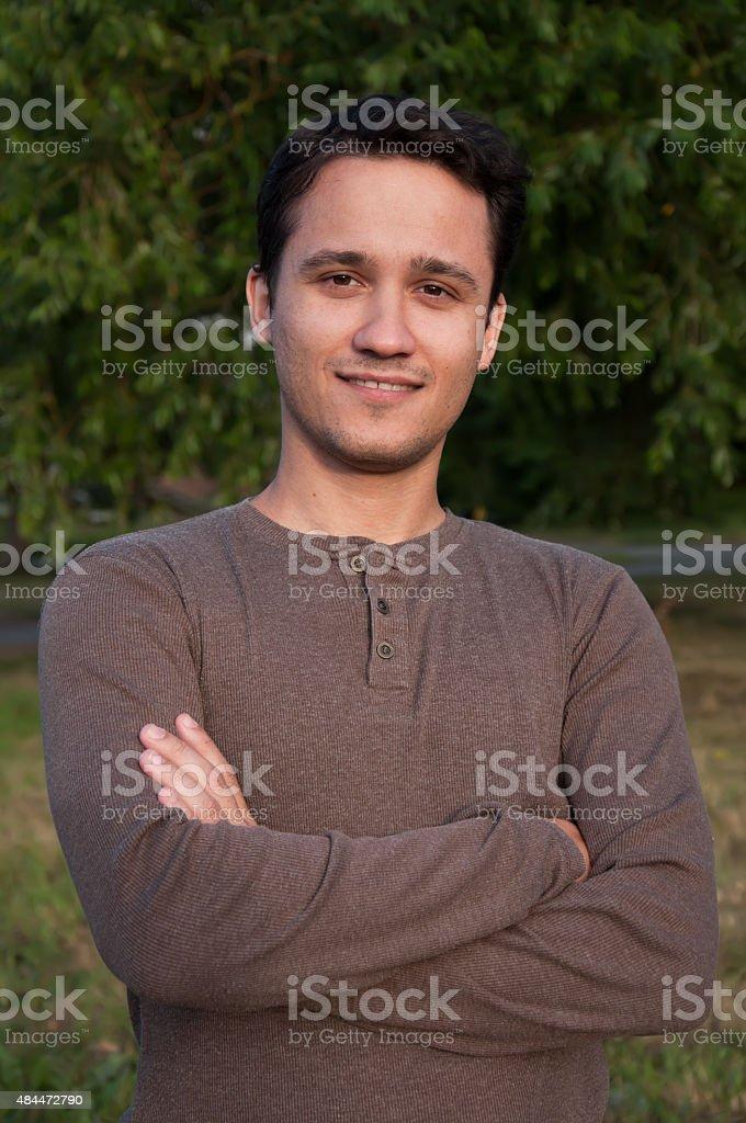 Man portrait stock photo