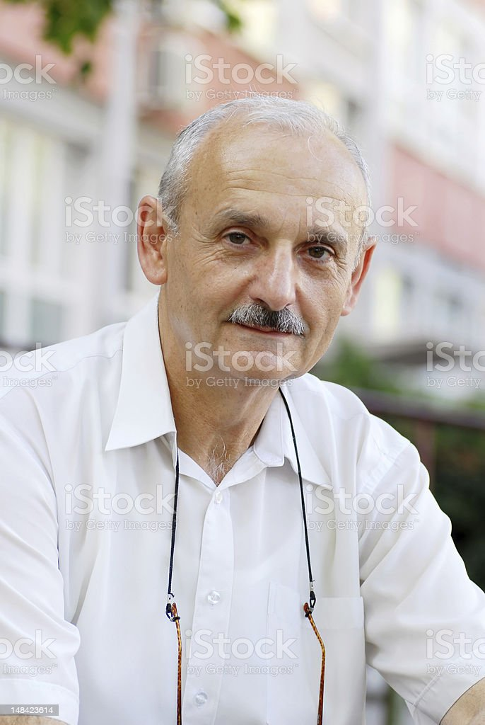 Man portrait smiling stock photo