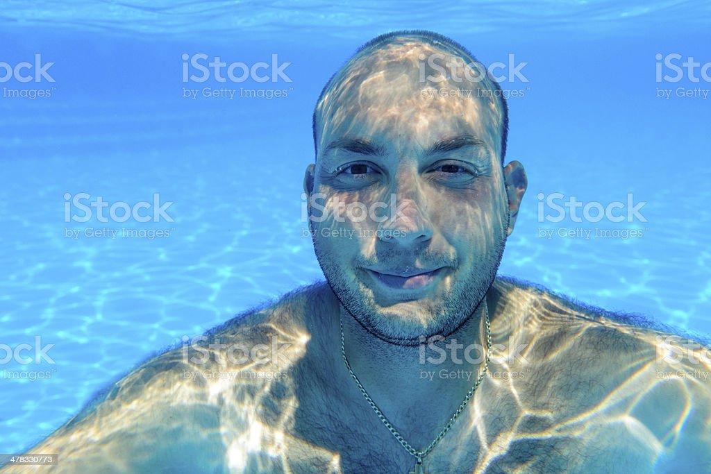man portrait underwater royalty-free stock photo