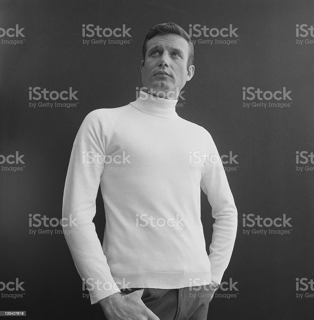 Man posing against black background royalty-free stock photo