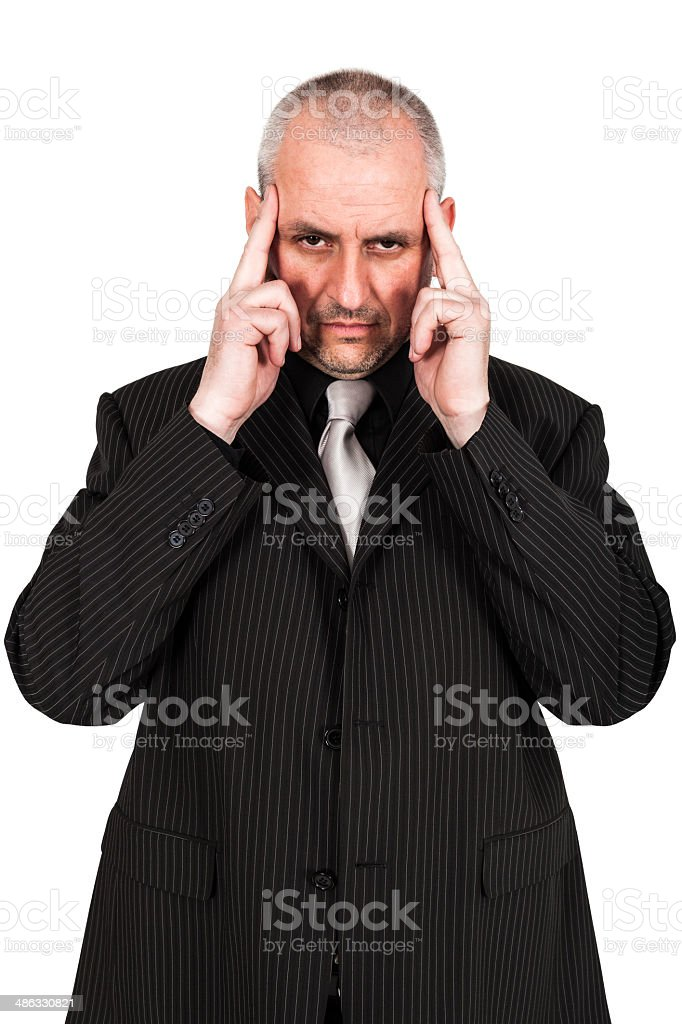 Man posing in a suit stock photo
