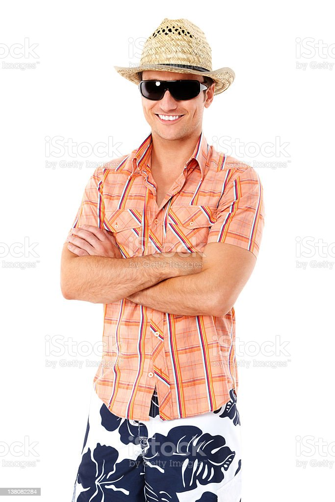Man Posing in Summer Wear - Isolated royalty-free stock photo
