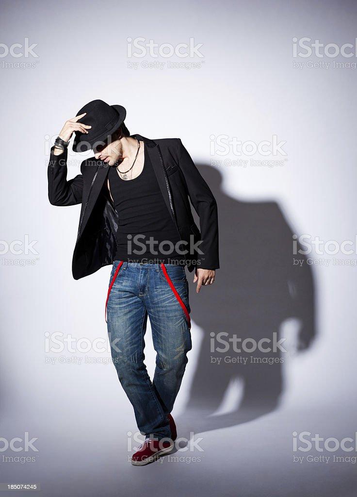 Man posing stock photo