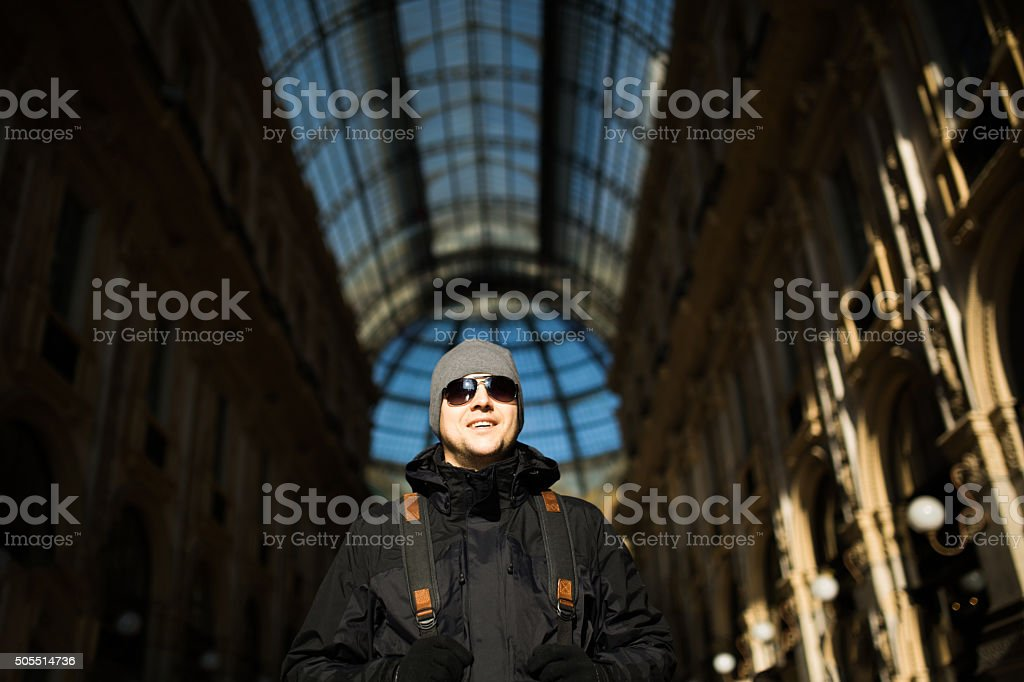 Man posing stock photo