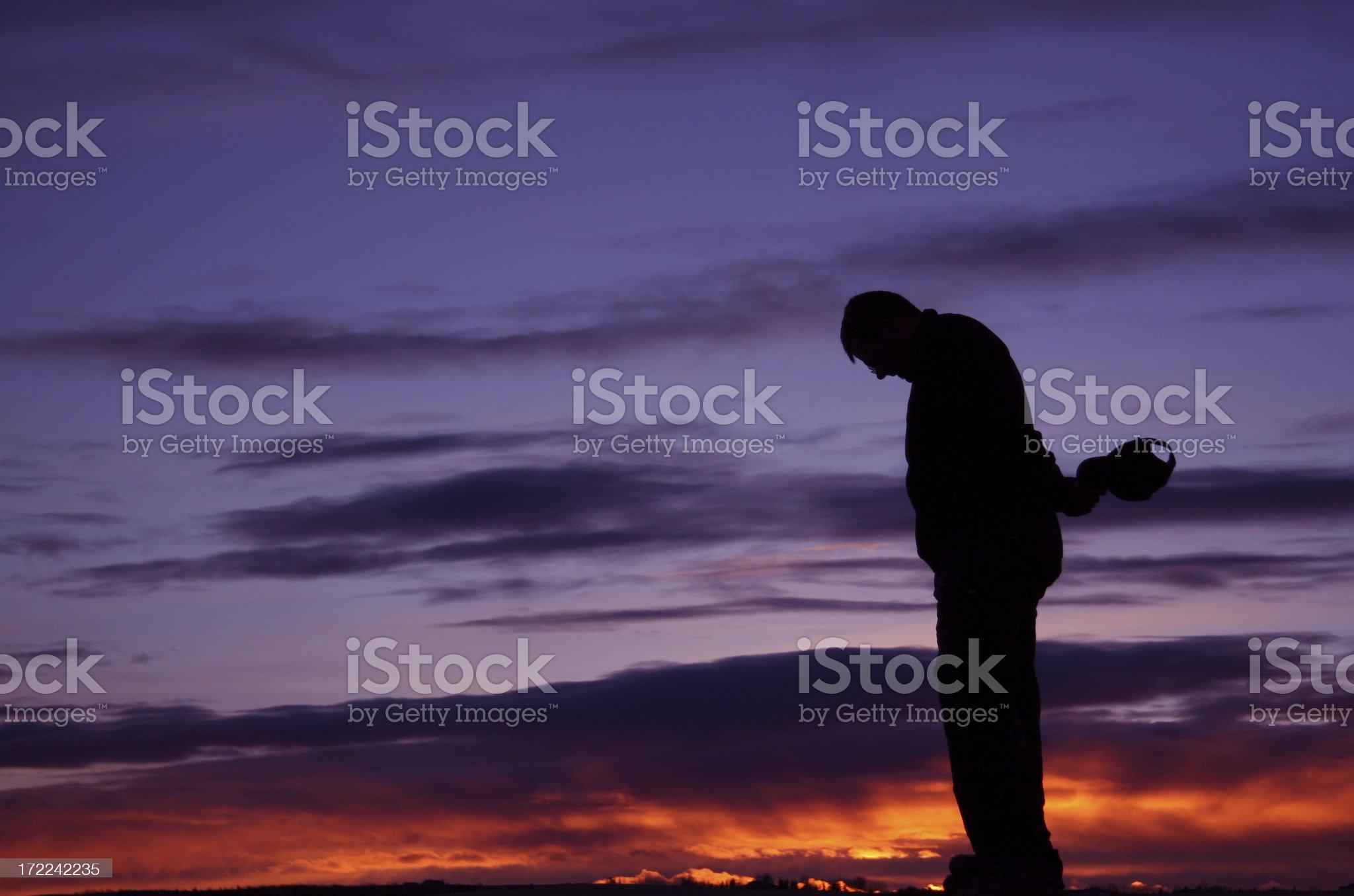 Man Praying royalty-free stock photo