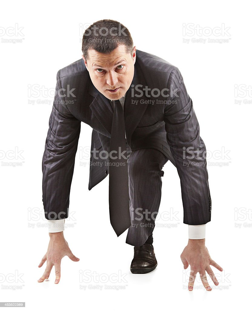man prepared for the race royalty-free stock photo