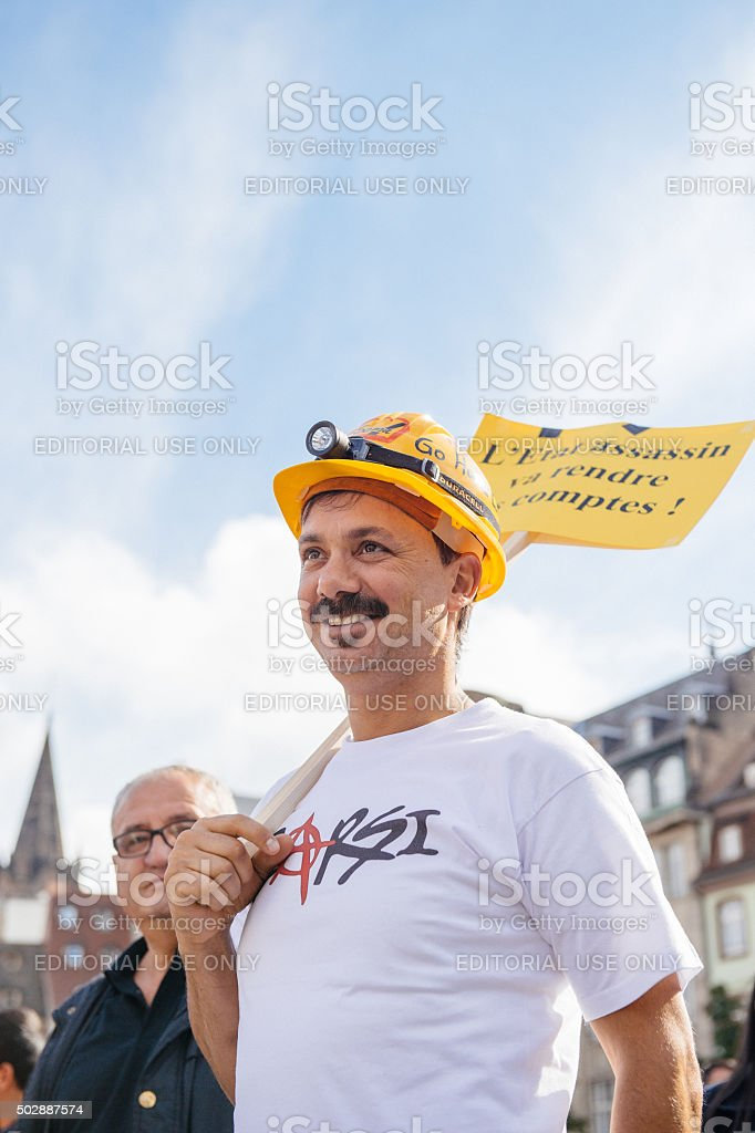 Man protesting against Turkish President Erdogan policy stock photo