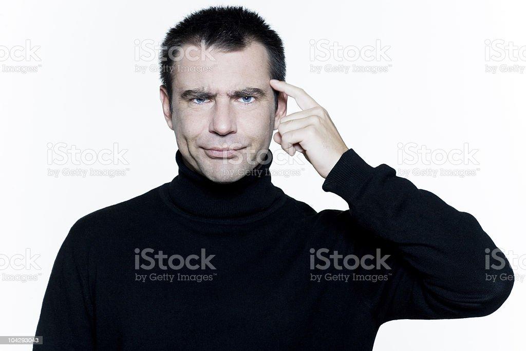 man puckering gesturing crazy stupid silly stock photo