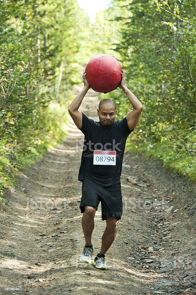 Man racing royalty-free stock photo