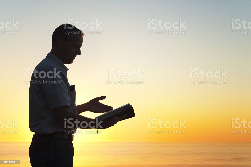 Man Reading A Book of Knowledge royalty-free stock photo
