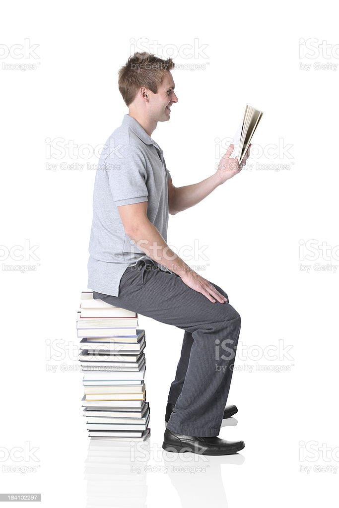 Man reading a book royalty-free stock photo