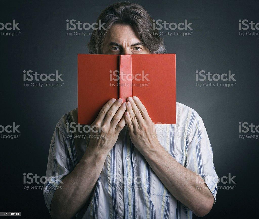 man reading book royalty-free stock photo