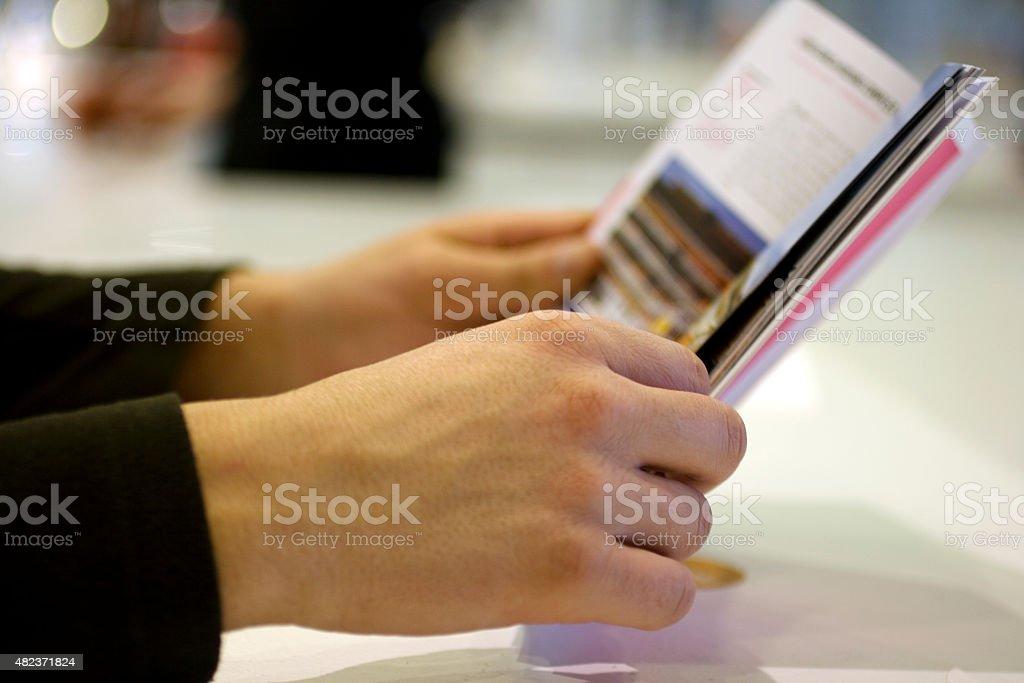 Man Reading stock photo