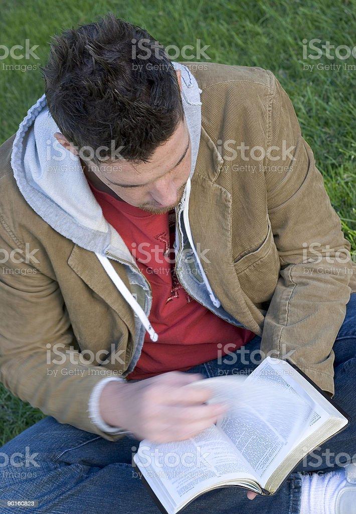 Man Reading royalty-free stock photo