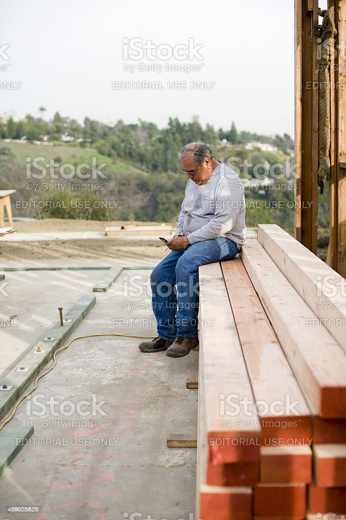 man reading text message royalty-free stock photo