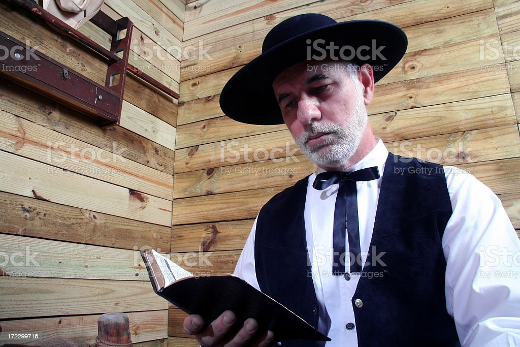 Man reading the Bible royalty-free stock photo