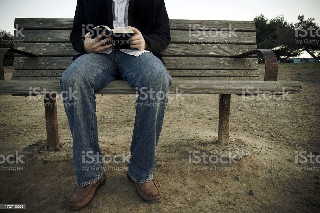 Man Reading the Bible royalty-free stock photo