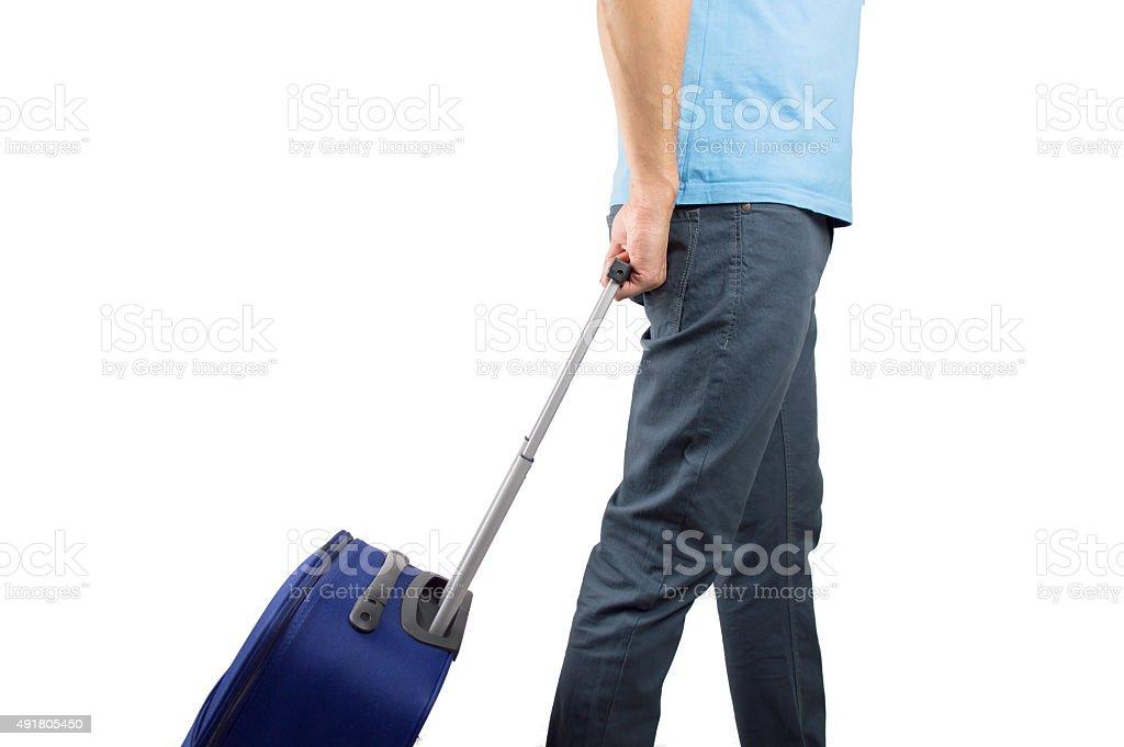 man ready to boarding stock photo