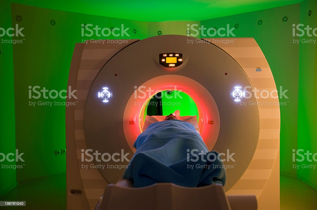 Man Receiving a Medical Scan royalty-free stock photo