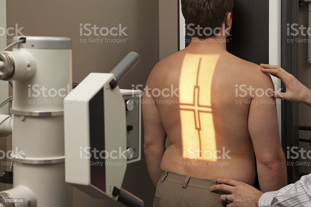 Man Receiving Chest X-Ray royalty-free stock photo