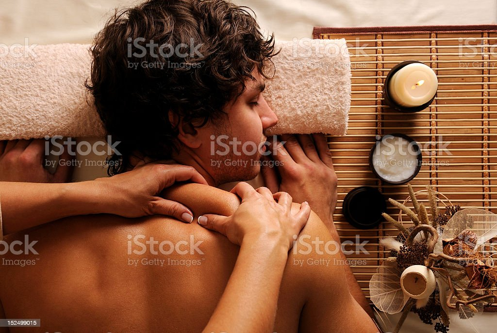 Man - recreation,  rest,  relaxation and massage royalty-free stock photo