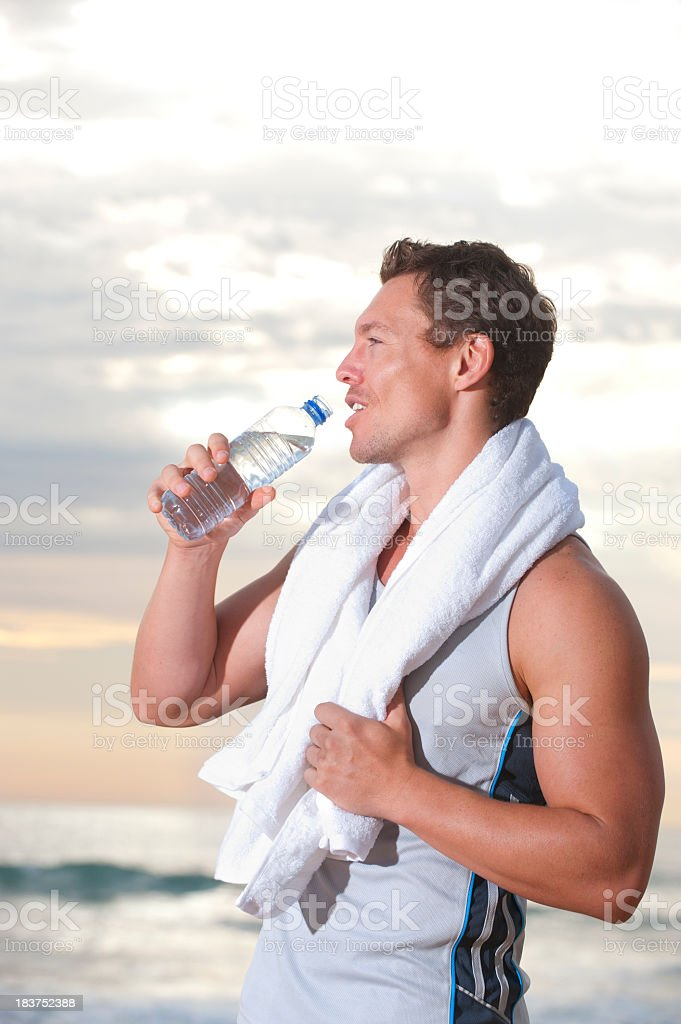 Man relaxing after a workout royalty-free stock photo