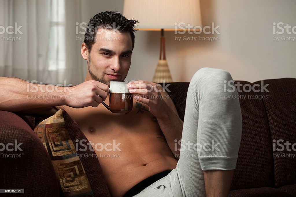 Man Relaxing royalty-free stock photo