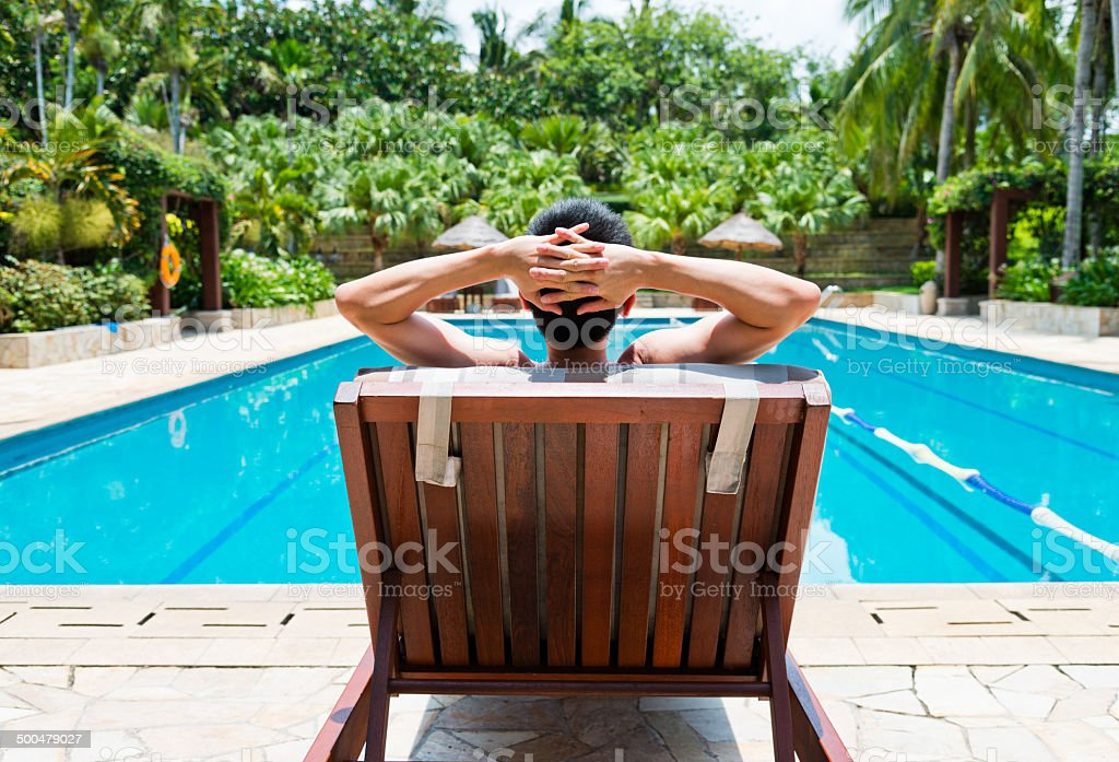 man relaxing stock photo