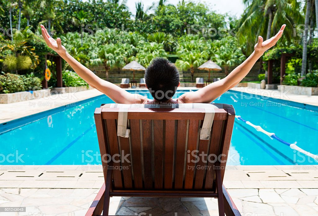 man relaxing stock photo