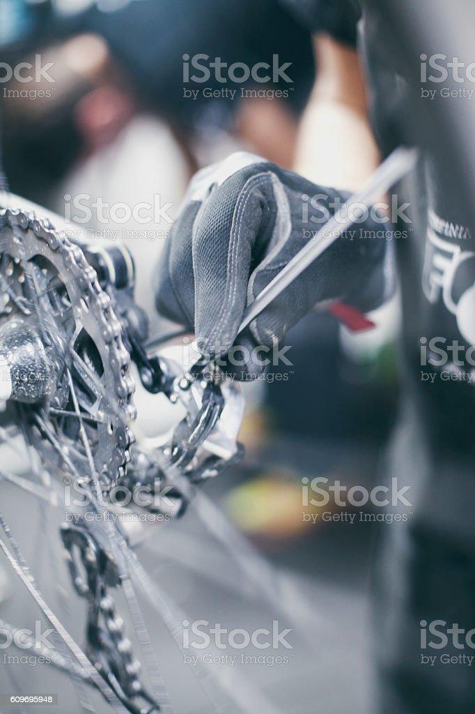 Man repairing stock photo