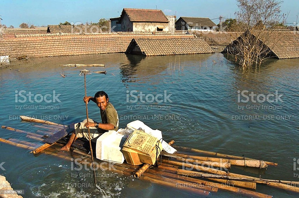 Man rescue stock photo