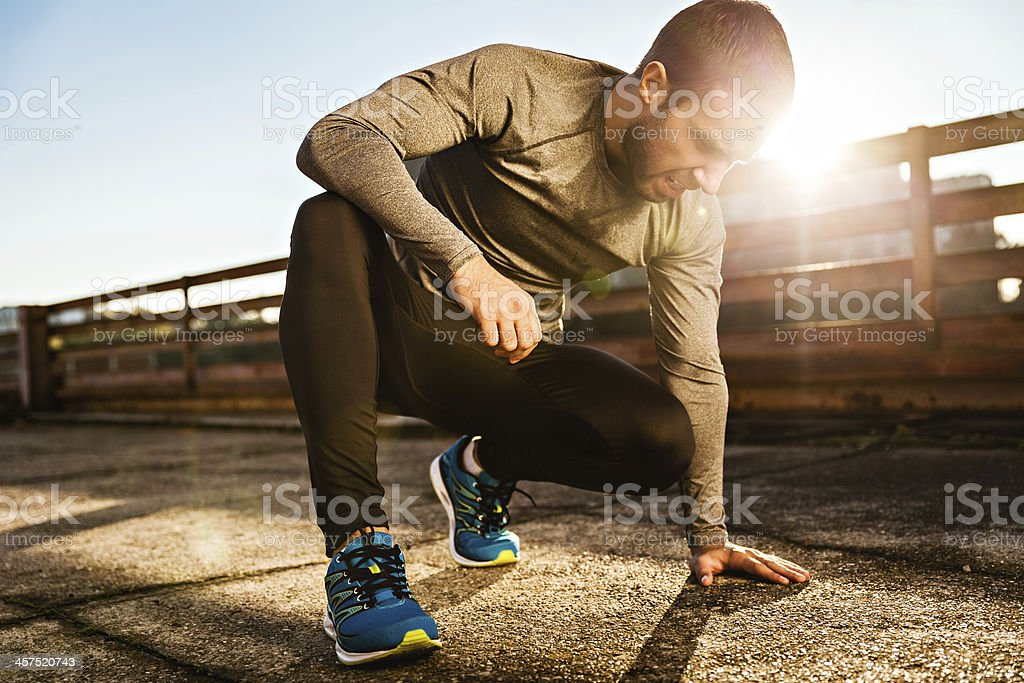 Man resting after workout royalty-free stock photo